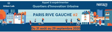 Urban Lab de Paris&Co | 2e appel à expérimenter sur le Quartier d'Innovation Urbaine Paris Rive Gauche