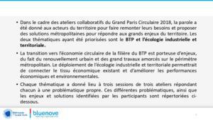 Synthèses des deux ateliers collaboratifs de la deuxième édition du Grand Paris Circulaire (2018)