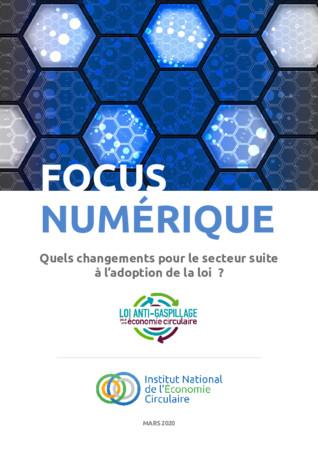 FOCUS INEC « NUMÉRIQUE ET LOI ÉCONOMIE CIRCULAIRE »