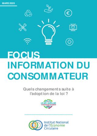 FOCUS INEC « INFORMATION DU CONSOMMATEUR ET LOI ÉCONOMIE CIRCULAIRE »