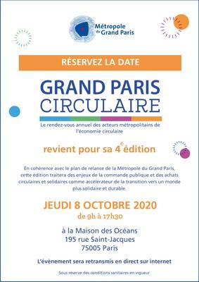 Réservez la date - Grand Paris Circulaire - 8 octobre 2020