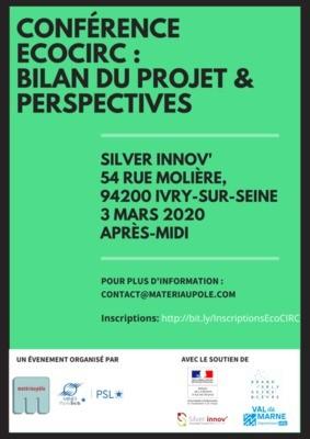 Conférence EcoCIRC : Bilan du projet & Perspectives