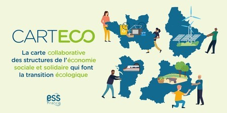 Carteco : la cartographie des acteurs de l'ESS de l'économie circulaire est disponible