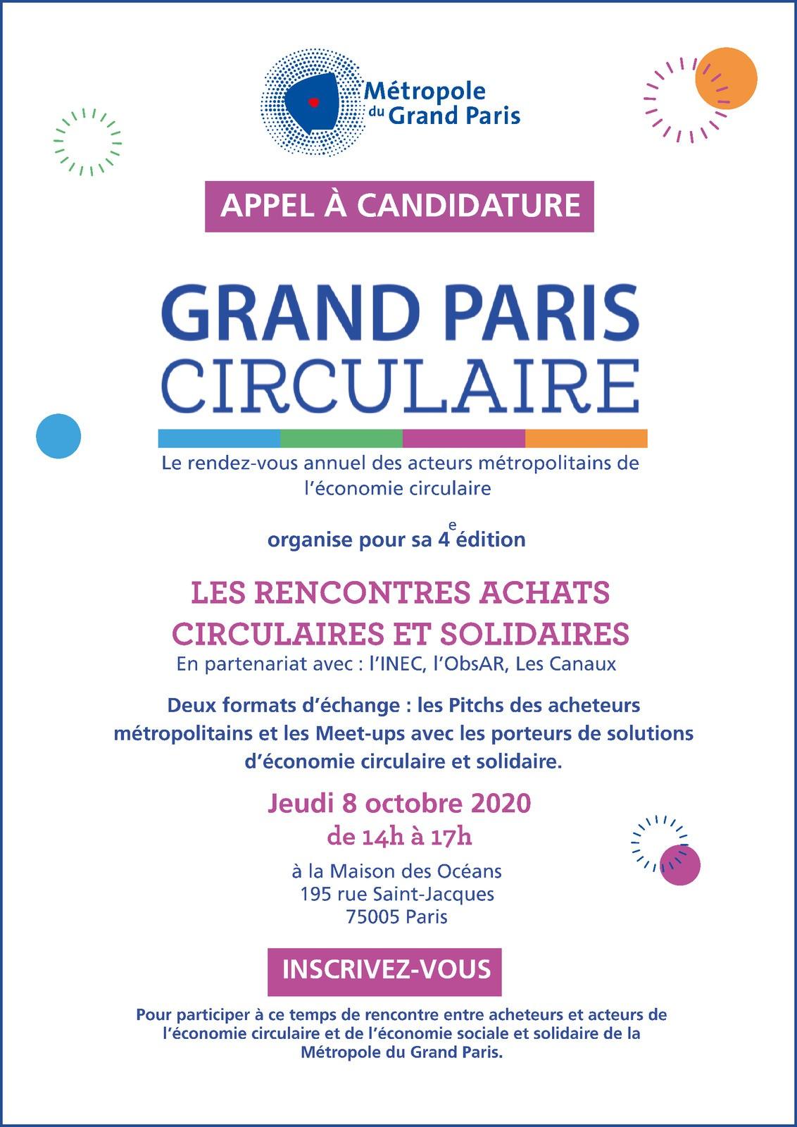 Appel à candidature - Les Rencontres Achats Circulaires et Solidaires, jeudi 8 octobre 2020