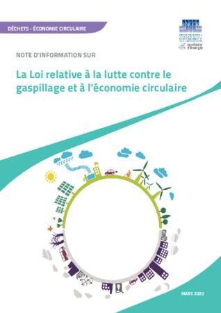 NOTE D'INFORMATION SUR La Loi relative à la lutte contre le gaspillage et à l'économie circulaire