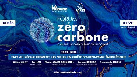 Forum Zéro Carbone les 10 et 11 décembre