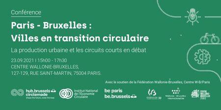 Paris - Bruxelles : Villes en transition circulaire